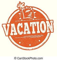 Vacation sign or stamp