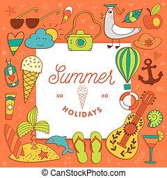 vacation summer travel beach elements