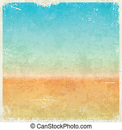 Vacation themed grungy background - Vacation themed grungy...