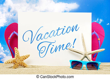 Vacation time banner