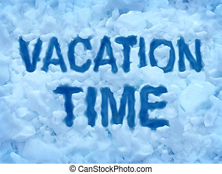 Vacation Time - Vacation time concept with a cold freezing...