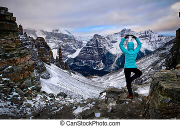 Vacation travel in Banff National Park.