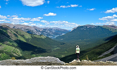 Vacation travel in Canadian Rocky Mountains.