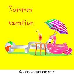 Vacation, travel, vacation. Beach umbrella, beach chair