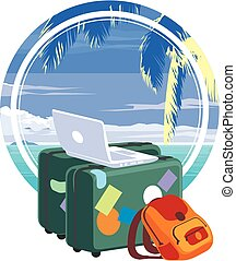 Vacation travelling concept.