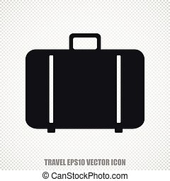 Vacation vector Bag icon. Modern flat design.