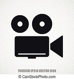 Vacation vector Camera icon. Modern flat design.