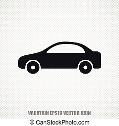 Vacation vector Car icon. Modern flat design.