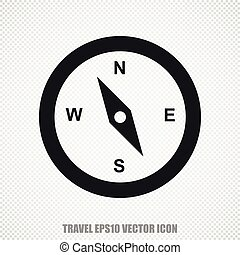 Vacation vector Compass icon. Modern flat design.