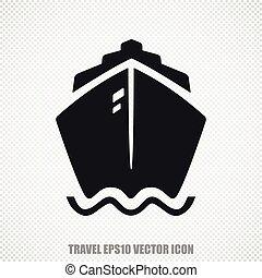 Vacation vector Ship icon. Modern flat design.