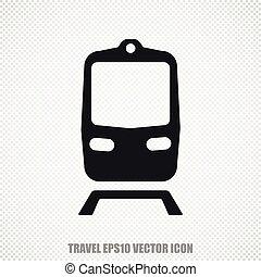 Vacation vector Train icon. Modern flat design.