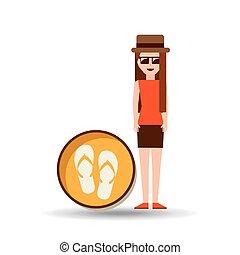 vacation woman flip flops summer