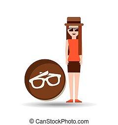 vacation woman sun glasses summer