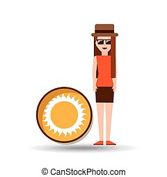 vacation woman sunny summer