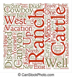 Vacations On A Ranch text background word cloud concept