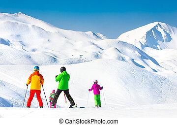 vacations., ski, gezin