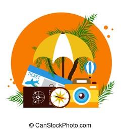 Vacations. Vector illustration in flat design