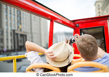 Vacations - Young couple making selfie