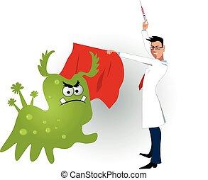 vacc, vírus, orvos, szelídítés