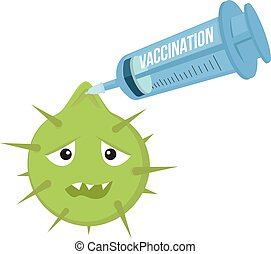 Vaccination can fight infection illustration. Syringe pins...