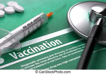 vaccination., háttér., orvosi fogalom, zöld