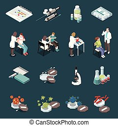 Vaccination Isometric Icons Set - Vaccination isometric ...