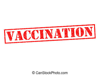 VACCINATION red Rubber Stamp over a white background.