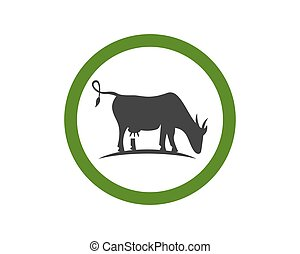 Logo Vache Gabarit Rigolote Tete Vecteur Vache Rigolote