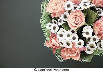 vacker, Årgång, stil, Blomstrar
