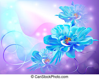 vacker, abstrakt, bakgrund, med, blomningen