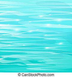 vacker, abstrakt, hav, bakgrund