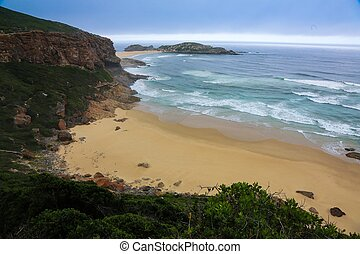 vacker, avskild, strand