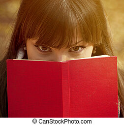vacker, bak, bok, flicka, nederlag