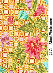 vacker,  batik, konst, mönster