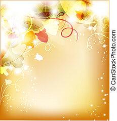 vacker, blomma, bakgrund