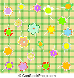 vacker, blomma, bakgrund., design, blom- gränsa