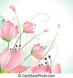 vacker, blomma