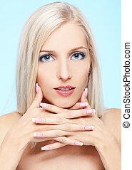 vacker, blondin