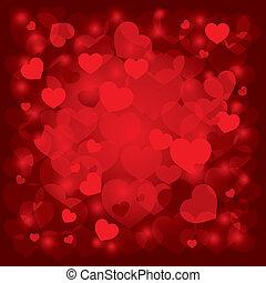 vacker, dag, bakgrund, valentinkort