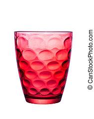 vacker, glas, patterns., röd