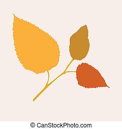 vacker, höst, träd filial