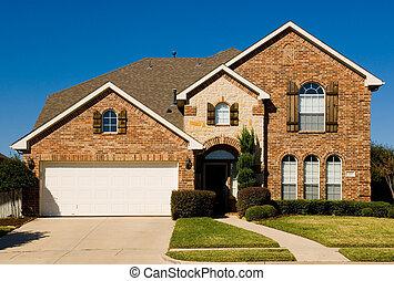 vacker, hem, egenskap, -, two-story