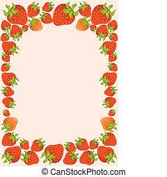 vacker, jordgubbe, saftig