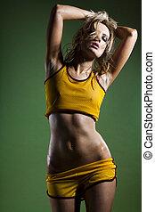 vacker, kropp, fitness