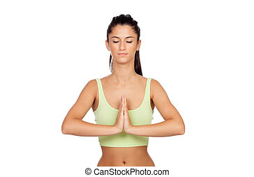 vacker kvinna, yoga