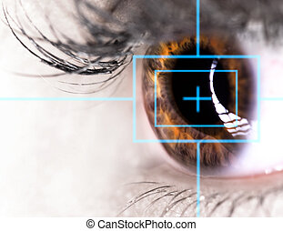 vacker, laser, ögon