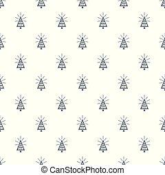 vacker, mönster, träd, seamless, vektor, jul