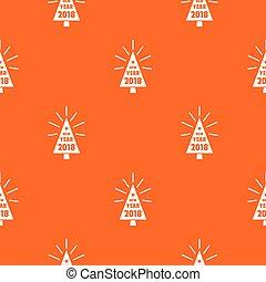vacker, mönster, träd, vektor, apelsin, jul
