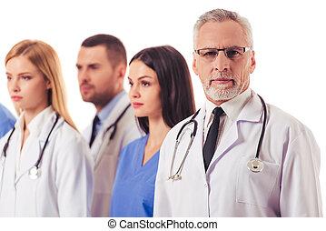 vacker, medicinsk, doktorn