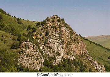vacker, mountains, av, tien, shan